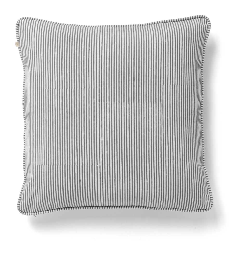 Stripe Cushion in Grey