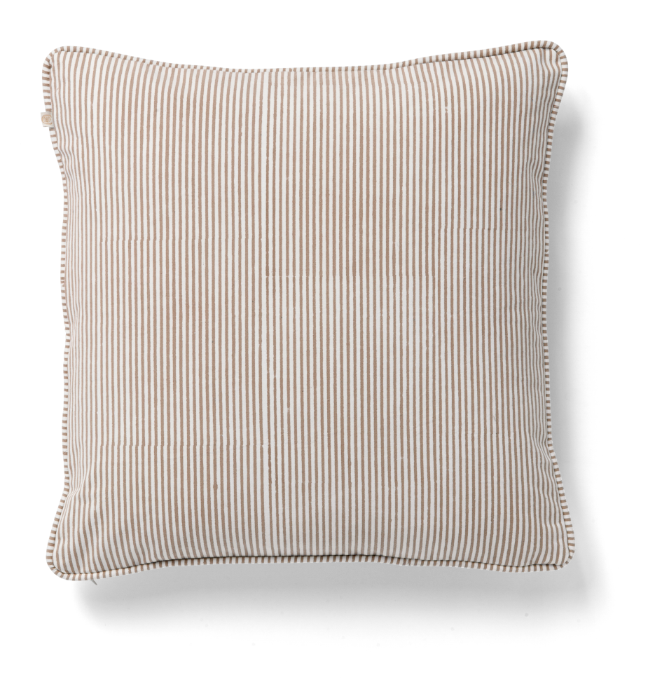 Cushion Cover - Stripe - Light Brown