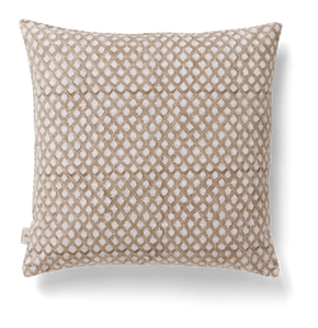 Medallion Cushion in Light Brown