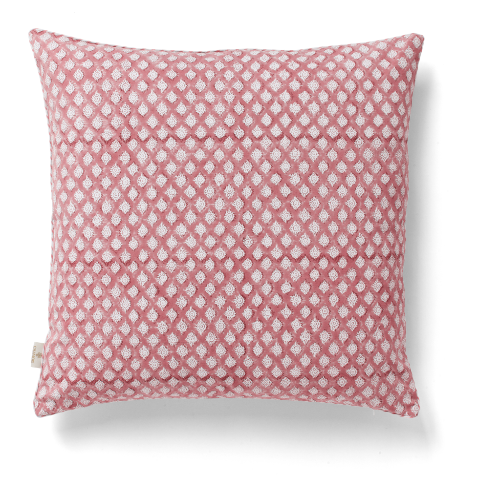 Medallion Cushion in Fuchsia Rose