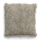 Linen cushion with Pomegranate print in Grey