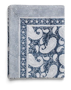 Tablecloth with Big Paisley® print in Navy Blue