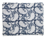 Set of Two Placemats - Big Paisley® - Navy Blue