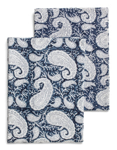 Big Paisley® kitchen towels in Navy Blue