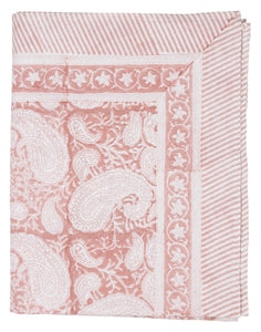 Tablecloth with Big Paisley® print in Fuchsia Rose