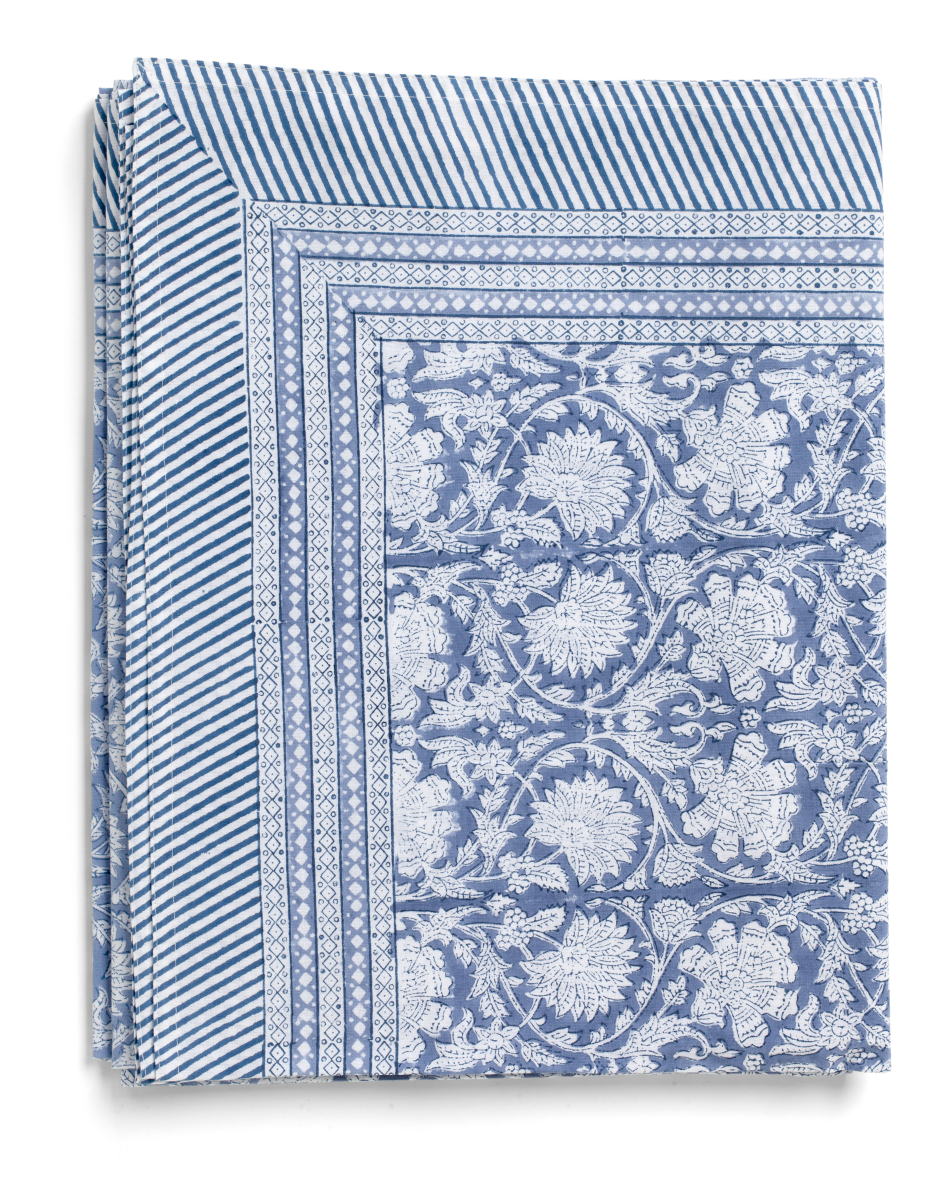 Paradise Tablecloth in Cornflower