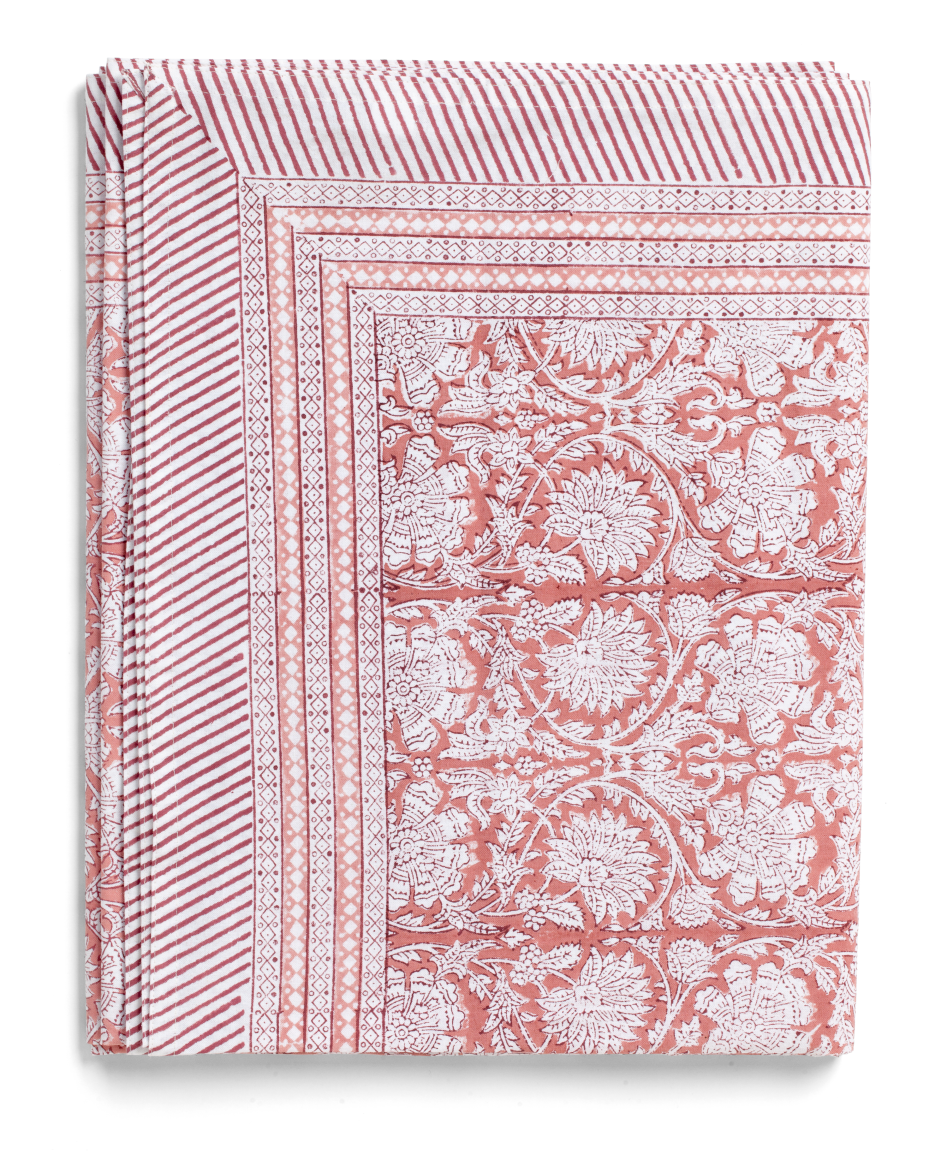 Paradise Tablecloth in Rose
