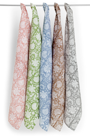 Kitchen towels with Paradise pattern in Rose