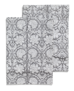 Kitchen towels with Paradise pattern in Grey