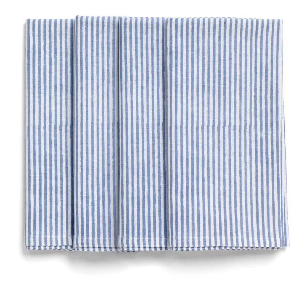 Stripe Napkins in Cornflower