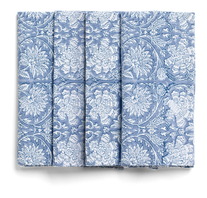 Paradise napkins in Cornflower