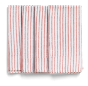 Stripe Napkins in Rose