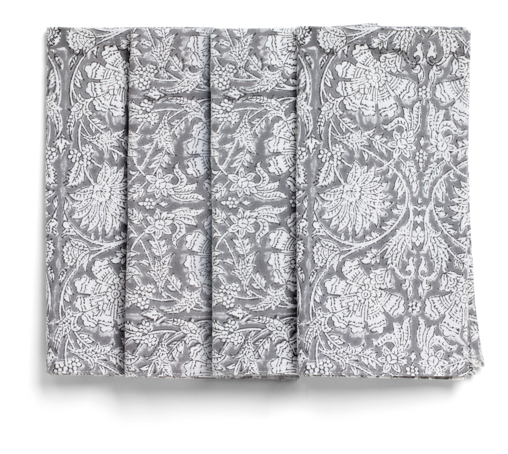 Paradise Napkins in Grey