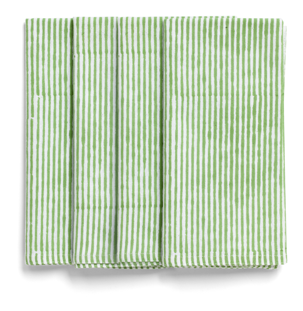 Stripe Napkins in Green