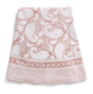 Round Tablecloth with Big Paisley® print in Fuchsia Rose