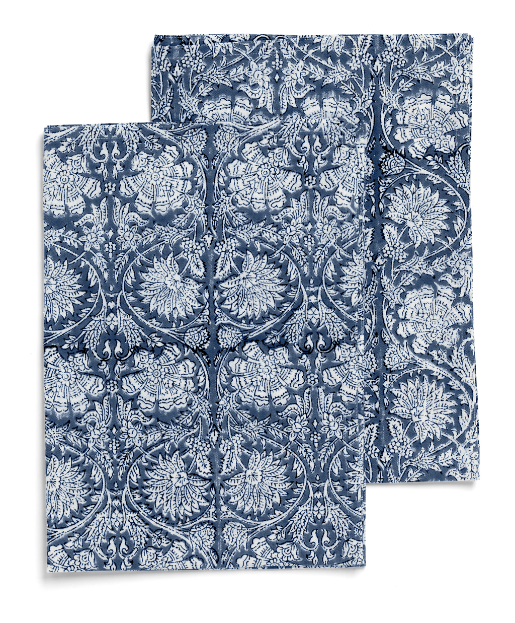 Kitchen towels with Paradise print in Navy Blue