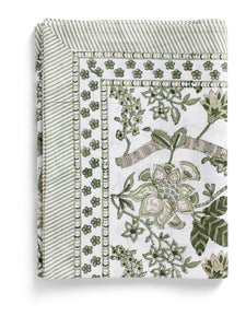 Tablecloth with Floral print in Olive