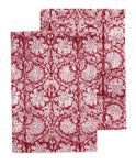 Kitchen towels with Paradise pattern in Red