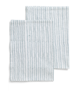 Kitchen towels with Electric Stripe print in Cashmere Blue