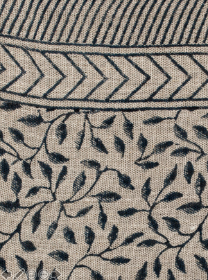 Tablecloth - Leaf - Dark Blue
