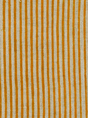 Linen kitchen towels with Ochre stripes