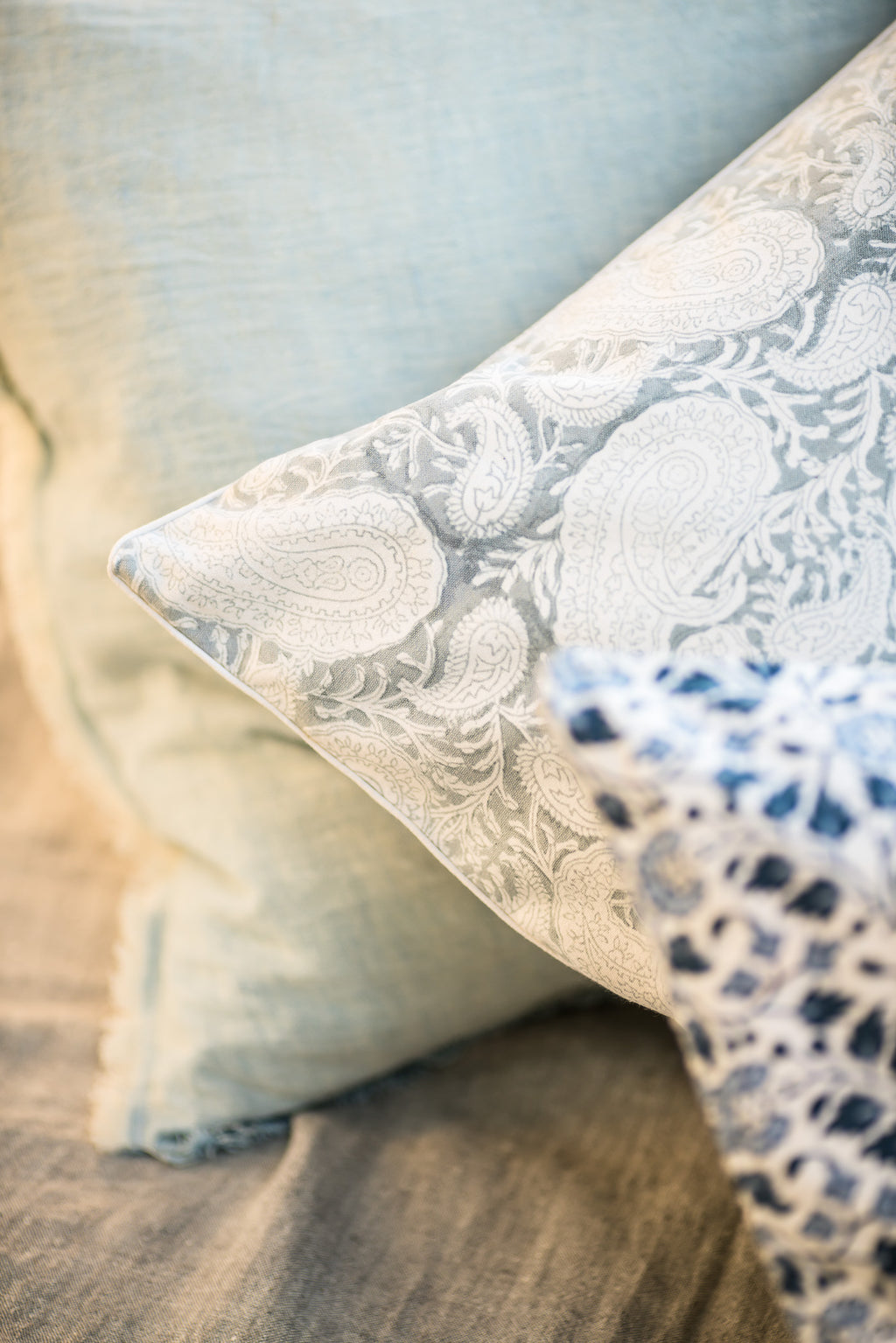 Big Paisley® Cushion in Light Grey