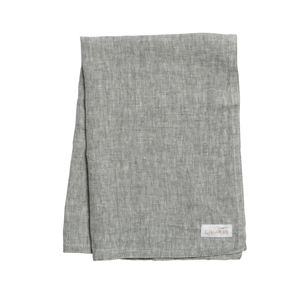 Linen Kitchen Towel in Grey Chambray