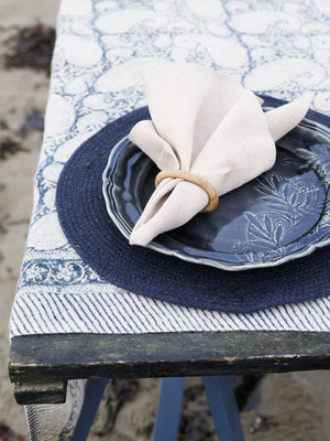 Tablecloth - Big Paisley® - Navy Blue - Linen