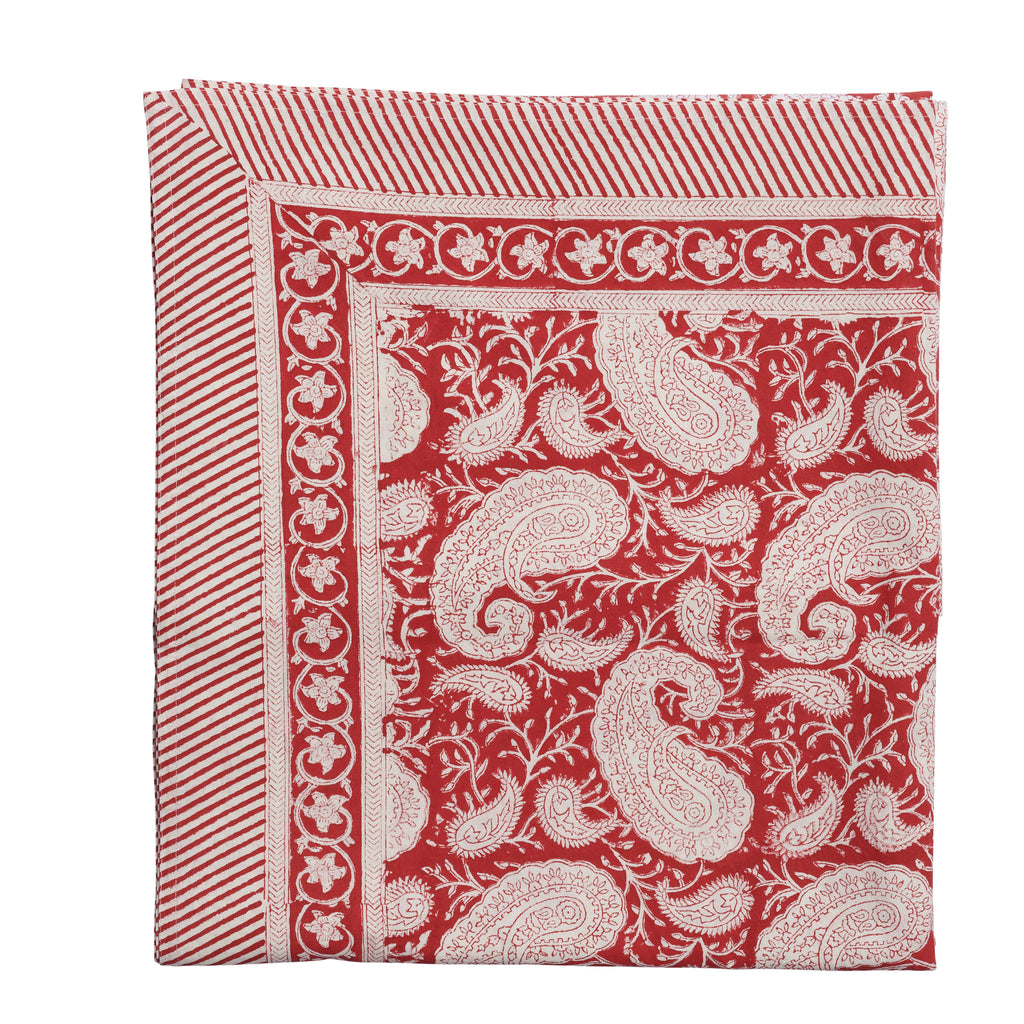 Tablecloth with Big Paisley® print in Red