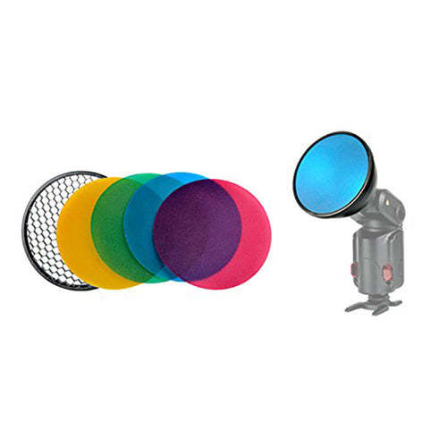Reflector w/ Diffuser, Grid and Color Filters | Godox AD200