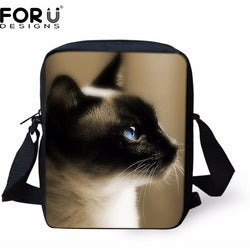 Casual Unisex 3D Cat Head Shoulder Bag