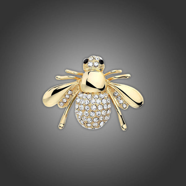Lovely Crystal Bee Brooch Pins