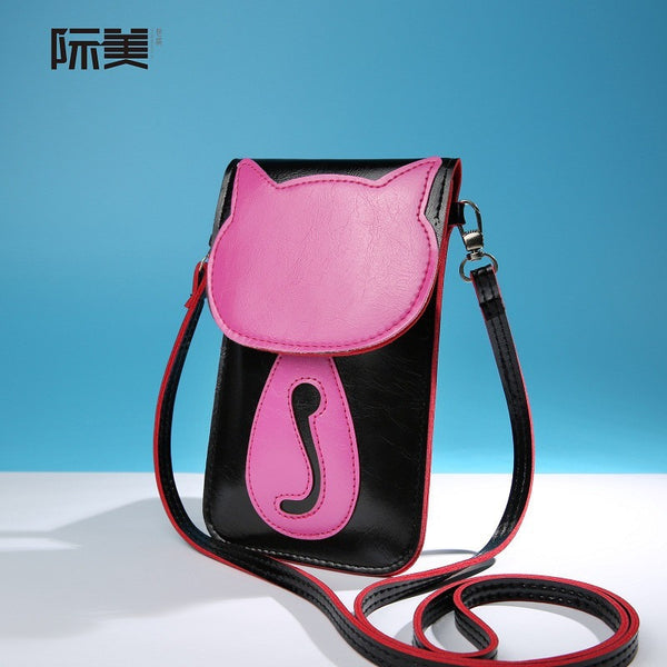 PU leather Cat Mini Shoulder Bag