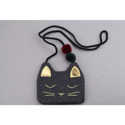 Cute PU Leather Cat Kid's Shoulder Bag