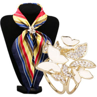 Fabulous Korean Fashion Butterfly Tricyclic Scarf Buckle Brooch