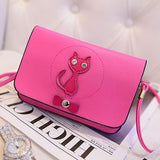 Fashion PU Leather Cat Bow Handbag