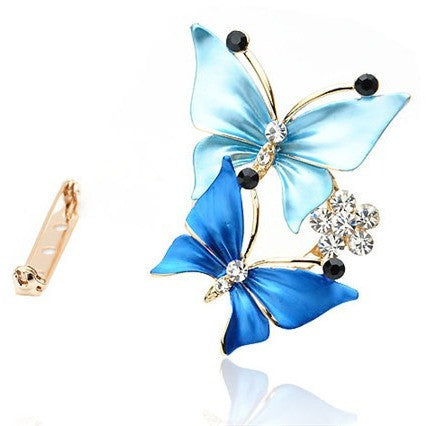 Elegant Butterfly Crystal Brooches Pin