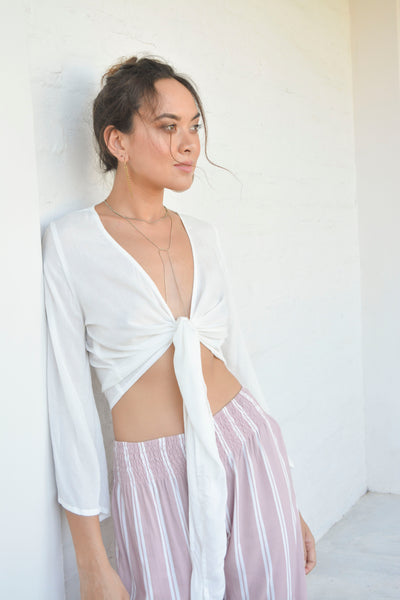 Wrap Top Off White
