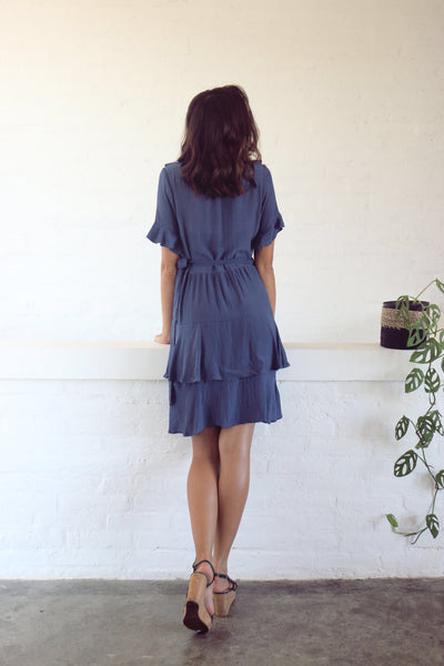 Gia Wrap Dress - Navy