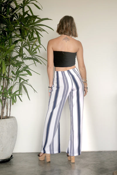 Nautical Pants - Navy Stripe