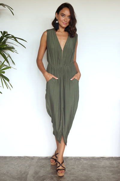 Nickie Dress - Khaki