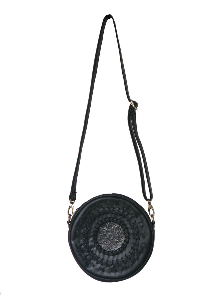 Roundie Mandala Leather Bag