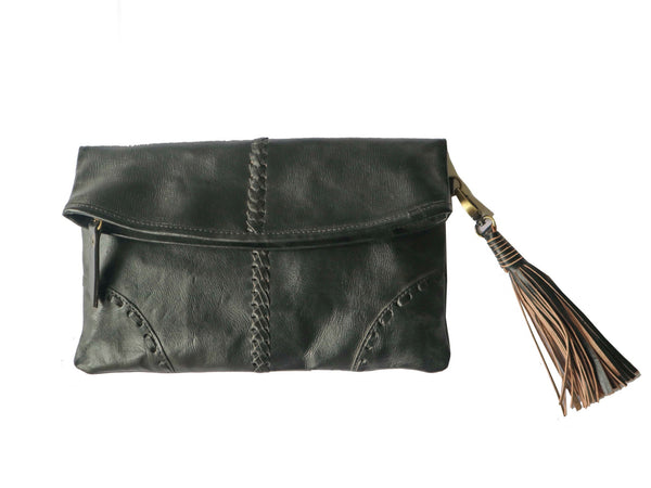 Clutch bag  with tassle