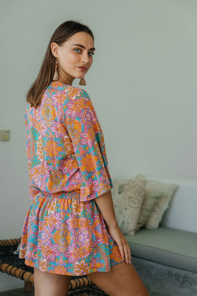 Tracie Mini Dress - Summer Paisley
