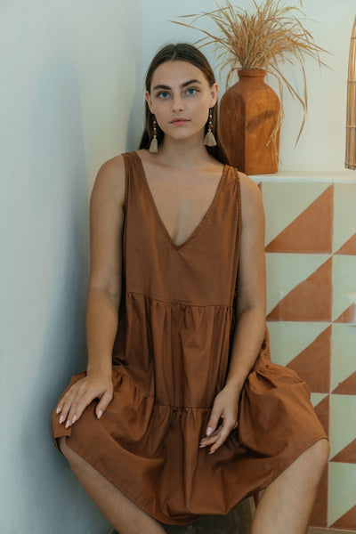 Polly Dress - Caramel