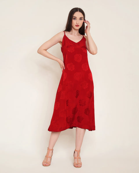 Brielle Dress - Red Rose
