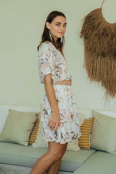 Gilda Dress - Pink Botanical