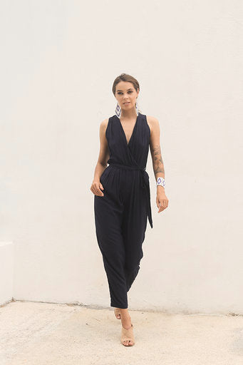 Rylee Jumpsuit - Dark Navy Blue