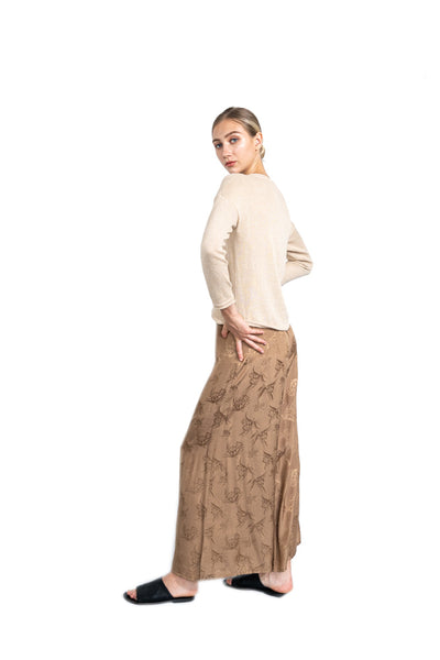 Zyonna Sweater Top - Beige