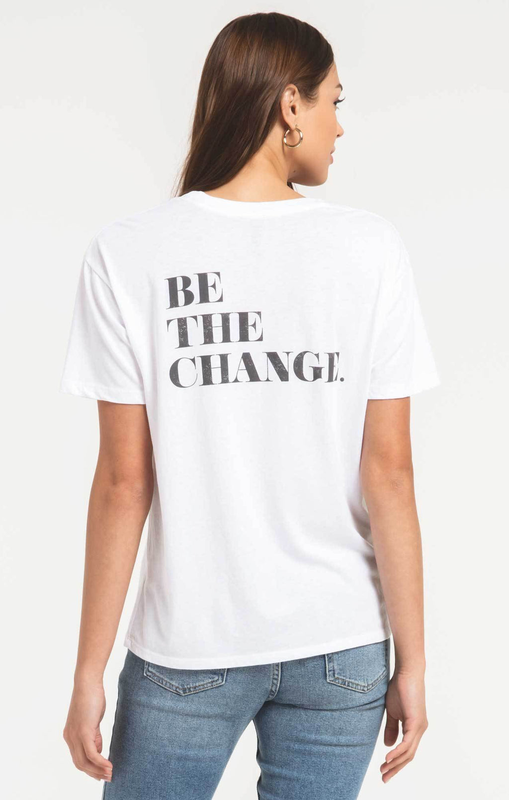 BE THE CHANGE BOYFRIEND TEE Z SUPPLY